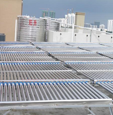 太阳能yabovip188工程联箱热水供暖系统